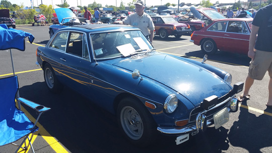 '72 B-GT of Jack Feldman of Downers Grove at 2014 Chicago British Car Day