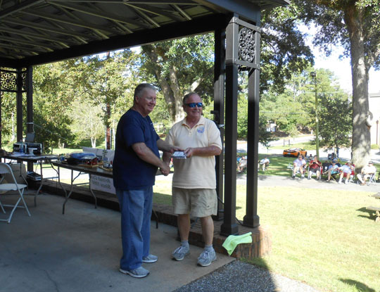 Brian Daly Giving Out an Award at AMGBA Meet 2017 in Alabama