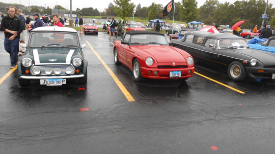 "'99 Mini Cooper, '95 R-V8 and ""79 B Limo of Dino and Lisa Perez from Lake in the Hills, Illinois at 2019 Chicagoland British Car Festival"