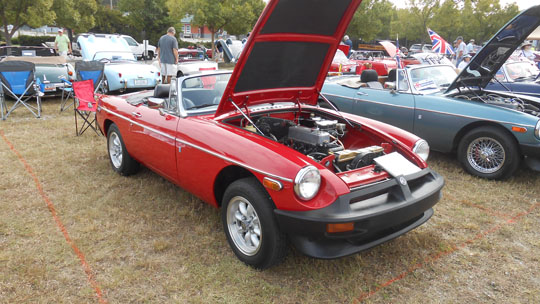 AMGBA Meet 2019 - 2nd place Rubber Bumper MGB - Jim & Neal Smith, '79 red MGB, Myrtle Beach, SC