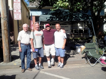 AMGBA Officers past and present - Bruce Magers, Rick Horan, John Giannasca and Frank Ochal