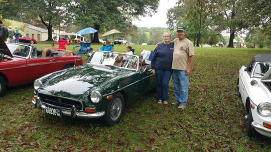 3rd place CHROME BUMPER MGB - '71 B of Greg & Mary Hastings from Roanoke, Virginia